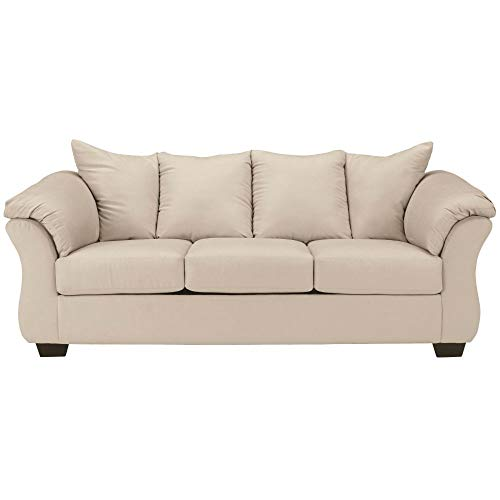 Signature Design by Ashley - Darcy Contemporary Microfiber Sofa, Stone
