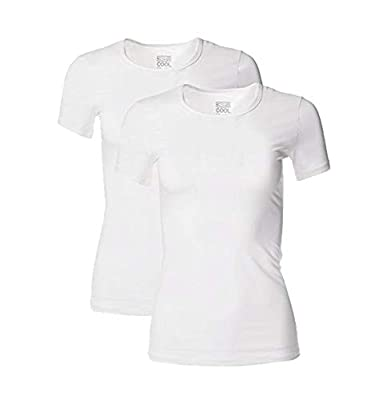 32º DEGREES Women 2 Pack Cool Scoop Neck Wicking Tee Shirt -White/White - Large