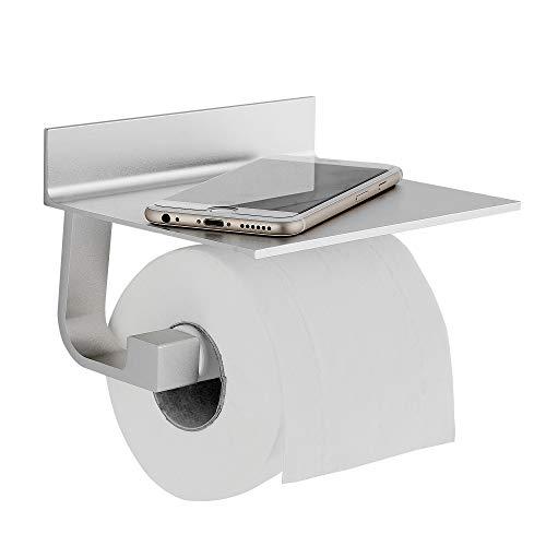 Hoomtaook Toilettenpapierhalter Ohne Bohren Bad Badezimmer Deko Selbstklebende Toilettenpapierhalter Ohne Bohren, Space Aluminium, Matte Finish Silber