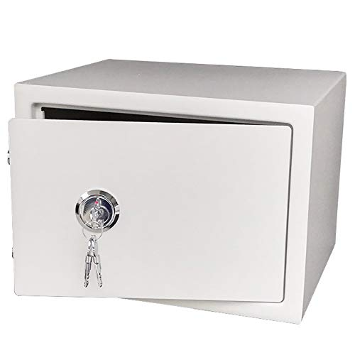 WJ Safe Tresor Safe für alte Leute, Heavy Duty Stahl Bargeldsicherheit Kasse Home Office-Safe (Color : White)