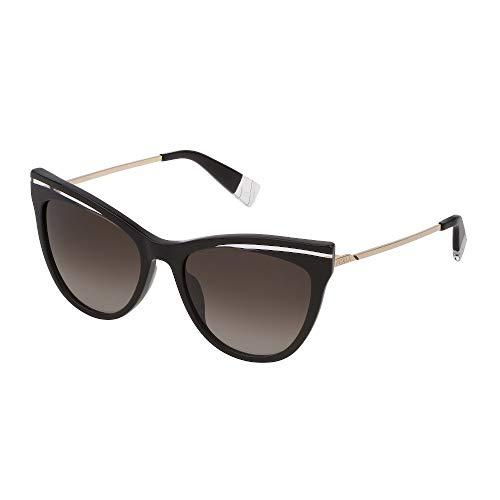 FURLA Sonnenbrille SFU349 0700 55-18-135 Damen schwarz glänzend Gläser brown gradient