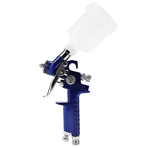 Pistola de pulverización de pintura HVLP Kit de pistola de pulverización de aire de alimentación por gravedad con boquilla de 125 ml 0,8/1,0 mm Pulverizadores de pintura de retoque(H-2000A 1.0mm)