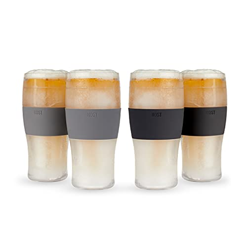 HOST Freeze Cooling Cups (Set of 4) Beer Chilling Drinkware