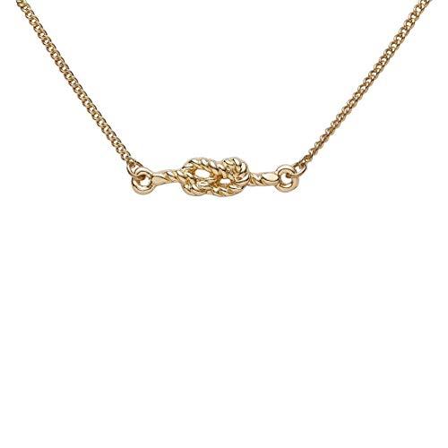 Draeger Paris – Pulsera de fantasía de metal dorado, diseño de nudo marino – Sin níquel – 20 cm – Ideal para regalo personalizado y diseño