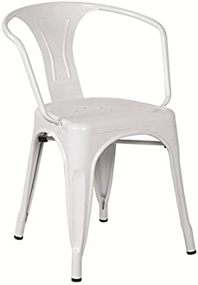 Hogar Decora Pack DE 4 SILLAS Blanco Malaga, Medidas Ancho: 52,5 x