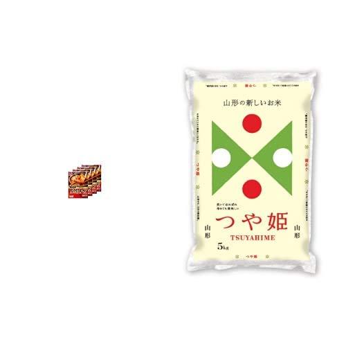 味の素 CooKDo コリア! 豆腐チゲ用 3-4人前×4箱 +  【精米】山形県産 白米 つや姫 5kg 令和元年産