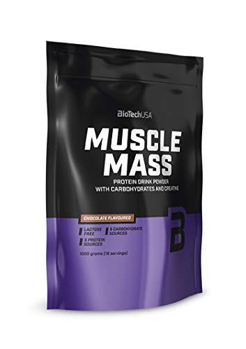 Muscle Mass cioccolata 1000g - Gainer per l'aumento della massa - BiotechUSA
