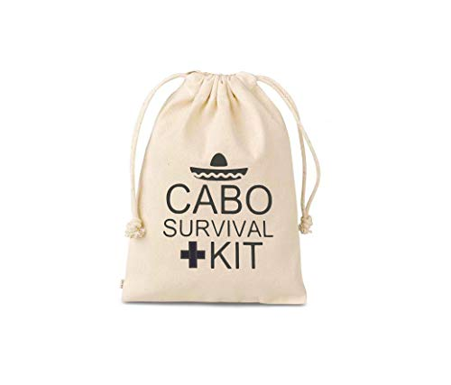 Set of 10 Bags Cabo SurvivalHangover Kit, hangover bags, amenity bags, Bachelorette Party Hangover Kit Bags Cotton Drawstring Wedding Party Welcome Favor Bags hangover kits wedding bachelorette party survival kit bags Hangover Kit ,Bachelorette Survival Kit ,Party Bag, Recovery Kit ,Drawstring Favor Bags Hangover Kit Bags, Recovery Kit Bags, Bachelorette Party Decorations