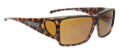 Jonathan Paul Fitovers Eyewear - Orion - Large - Fits Over Frames (140mm x 43mm) - Cheetah/Polarvue Yellow