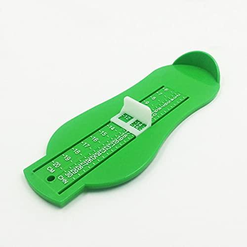 Messen Sie Requisiten für Kinderpflege Kinder Kinder Kindern Fußlänge Messleitmaschine Baby kaufen Schuhe Referenzwerkzeug (Color : Green)
