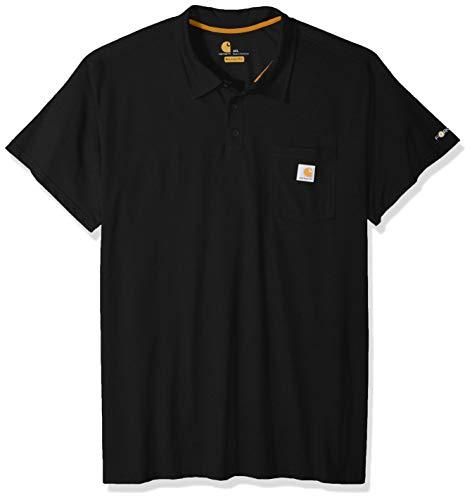 Carhartt Herren Force Cotton Delmont Pocket Polo Poloshirt, schwarz, XX-Large