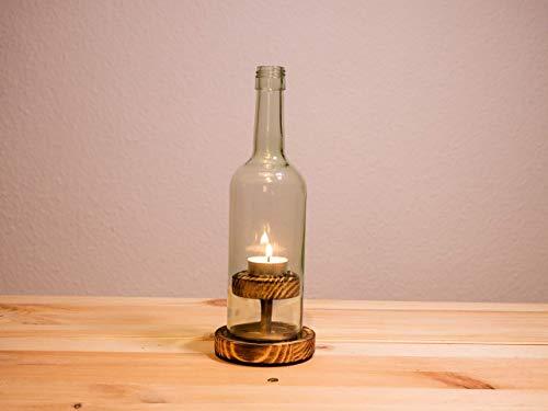 Weinflaschen - Windlicht,Nr 2 Rustikal