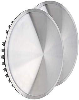 Universell passendes Radzierblendenset (2 Stück) 13 Zoll   Moon Caps für PKW, Oldtimer, Youngtimer (aus Edelstahl)~