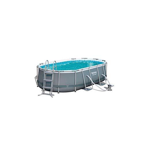 Bestway 956620 - Piscina Desmontable Tubular Power Steel Oval 427x250x100 cm Depuradora de Cartucho de 2.006 litros/Hora