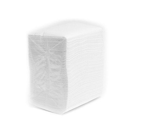EcoQuality Low Fold Dispenser Napkins, 1-Ply,3 1/2 x 5 in, White 800/pk, Dispenser Napkin Refill, Everyday Napkins, Perfect for Restaurants, Diners, Bodegas & Home