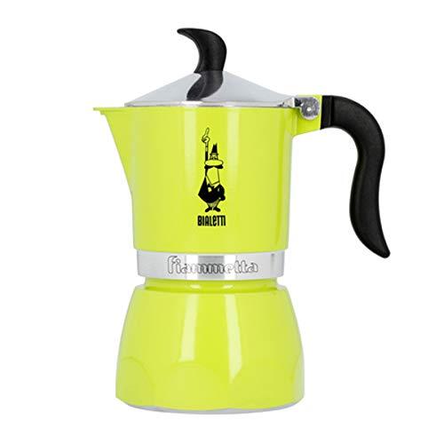 Bialetti Fiammetta, Cafetera 3 tazas, aluminio, Electric Lime