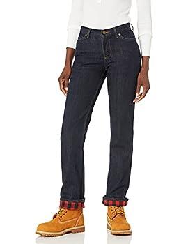 Carhartt Women s Original Fit Blaine Flannel Lined Jean Dark Bluestone 2