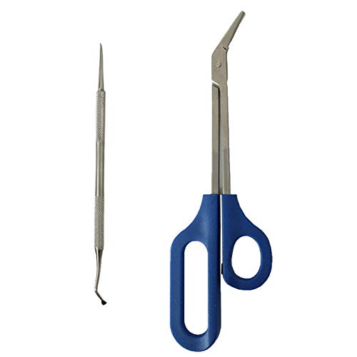 Long Handled Toenail Scissors and Clippers,Yogoit New Scissors Long Handle Nail Clipper Ergonomic Design Care Pedicure Cutter for Thick Nails Set Easy Ergonomic Elderly Cuticle (C)