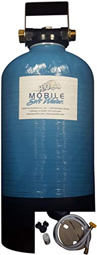 Mobile-Soft-Water Econo-Brand RV Softener 16,000 Grain Softener Complete, Plus The Addition of a Sofchek Hardness Test Strips, 4 ft Camco Drinking Water Hose, and Regeneration Y-Valve.