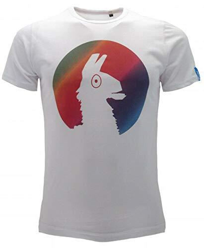 NADA HOME Epic Games Fortnite T-Shirt Stampata Ufficiale Maglia Bambino Ragazzo Gioco 0901 Bianco 12-13 Anni