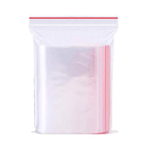 Sachets Zip transparent - Sachets Plastic Solides Sac Réutilisable-Sachets Zip Refermables pour Ranger les Petits Objets Les Tailles au Choix (5x7CM 200PCS)