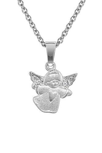 trendor Kinder-Halskette mit Engel-Anhänger Silber 925 78605