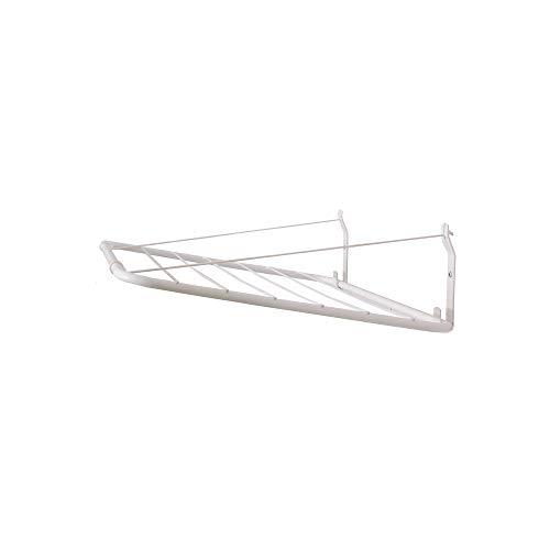 Wandmontage droogrek ALMA 140x50cm, metalen beugels, witte PVC-coating, 100% roestvrij, kan 30 kg vochtig wassen, een verwijderbare kledinglijn vasthouden