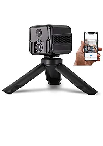 MIHATERU Premium Mini Kamera mit App Kabellose innen WLAN IP Kamera Akku 3000 mAh live Übertragung Handy Bewegungssensor Nachtsicht Audio tragbar Sicherheitskamera Babykamera Überwachungskamera