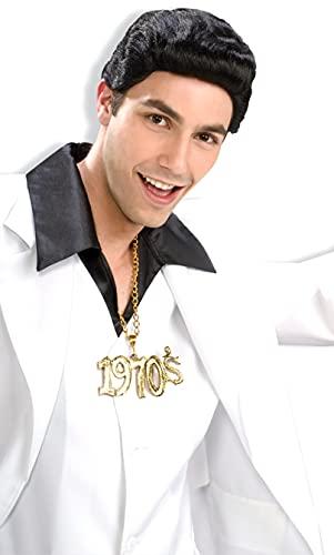 Forum Novelties 70s Disco Dude Wig (Black) Adult Halloween Costume Accessory