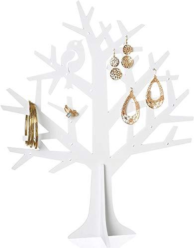 arbre a bijoux métal blanc la chaise longue 35-2F-059