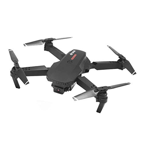 Slreeo Foldable Drone, 4K High-Definition Aerial Camera Optical Flow Dual Lens, 2.4GHz Remote Control Aircraft Quadcopter, Can Be Operated Indoors and Outdoors, One Lift and Return (Color : Black)