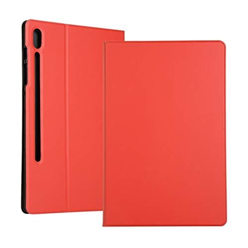 Dmtrab per Per Samsung Galaxy Tab S7 T870 (2020) Cassa, Caso di Copertura Protettiva in Pelle Orizzontale Trama Elastica con Supporto (Rosso) Manica (Color : Purple)