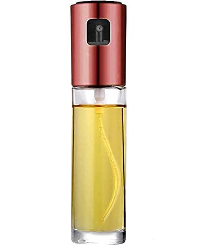 EULOND Pulverizador de Aceite para Cocinar Botella de Vidrio de Grado Alimenticio de 100 ML, Dispensador Oliva de Aceitera Rociador de Vinagre para Cocinar,Ensalada,Hornear,Pan,BBQ