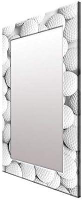 999Store Printed White Golf Ball Pattern Mirror