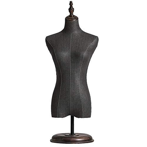 LLSS Modelo de Vestido Femenino de sobremesa, Tiendas de Dormitorio, Estudios, Muestra maniquí de Torso Superior, Altura Ajustable