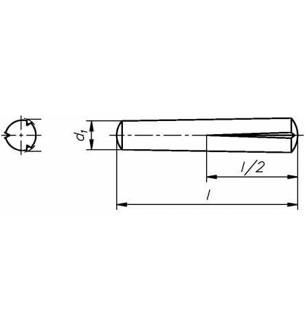 Reidl Paßkerbstifte 8 x 30 mm DIN 1472 Stahl blank 10 Stück