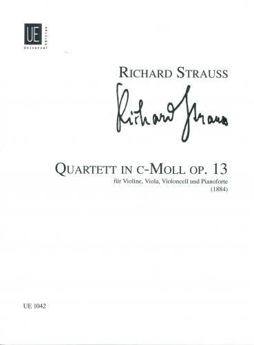 Quartett: op. 13. für Violine, Viola, Violoncello und