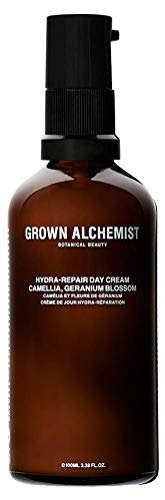Grown Alchemist Hydra-Repair Day Cream - Camellia & Geranium Blossom - Vegan Hydrating Facial Moisturizer, Clean Skincare (100ml / 3.38oz)