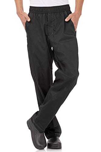 Chef Works Men's Cool Vent Baggy Chef Pants, Black, Medium
