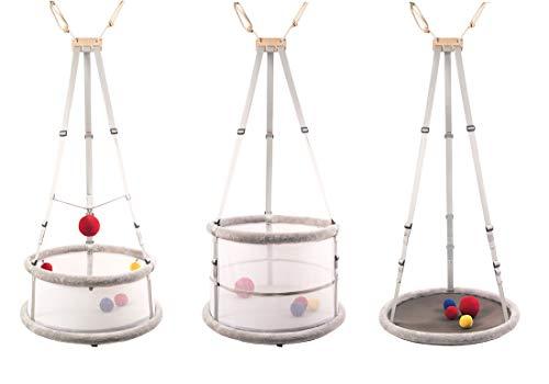 Memola® Home: 3 in 1, cuna de bebé, columpio de bebé, andador, cuna, columpio, cuna colgante, juego de cunas para el día y la noche, para gemelos y bebés prematuros, incluye los accesorios completos