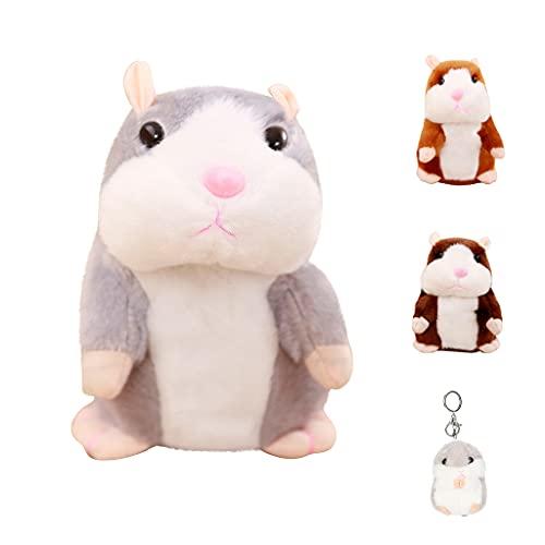 FIRFONMA Sprechender Hamster Plüsch Spielzeug Wiederholt was Sie Sagen Mimikry Haustier Elektronische Sprechende Aufzeichnung Stofftier Adorable Interaktives Spielzeug für Baby Kinder