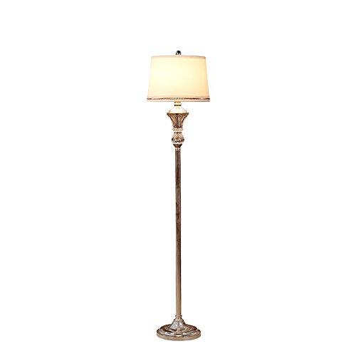 KANULAN - Lámpara de mesa de cristal de hierro, lámpara europea, piso vertical, salón, dormitorio, simple piso, estudio nórdico moderno creativo, lámpara de noche
