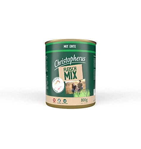 Christopherus Fleischmix, Mit Ente, Vollnahrung für Hunde, Nassfutter, 6 x 800 g
