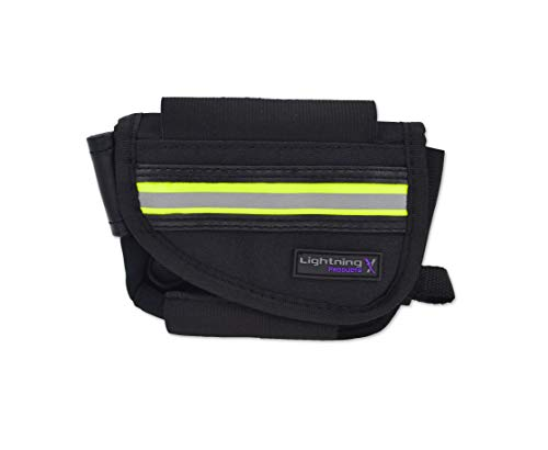 New Improved Design & Clip Lightning X EMS First Responder Hip Pouch w/Reflective & Belt Clip - Black