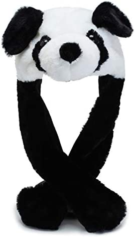 Beauy Girl Cute Plush Panda Hat Panda Cap Ear Moving Jumping Hat for Women Girls Cosplay Christmas product image