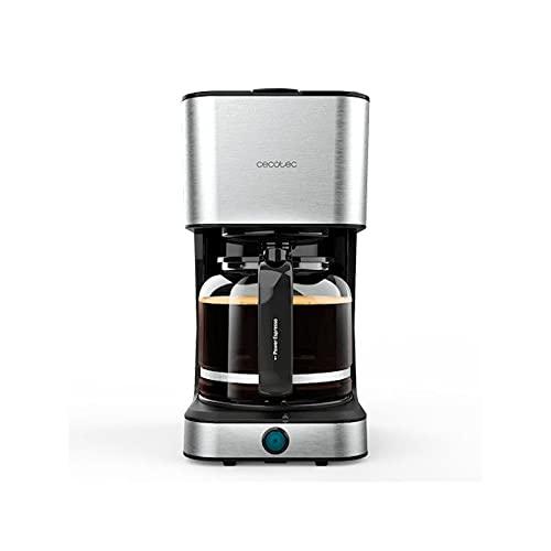 Cecotec Cafetera Goteo Coffee 66 Heat. Tecnología ExtremeAroma, Capacidad 1,5l (12 tazas), Función Recalentar y Mantener Caliente, Jarra Termoresistente, Boquilla Antigoteo, 950W
