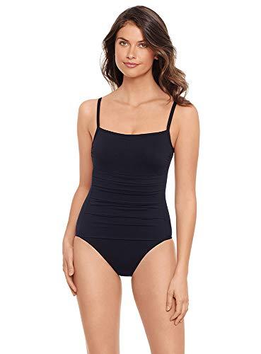 Iodus Women's Swimwear Must Have Erdian Ballerine Coques Noir One Piece Swimsuit, Noir, 8