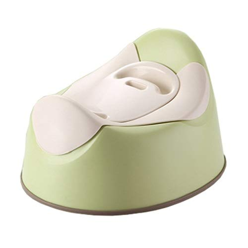 PPuujia Baby potty Moon Shape Comfortable Baby Potty Travel Size Baby Toilet Potty Training Children's Potty Cute Toilet Seat Infant Urinal Green