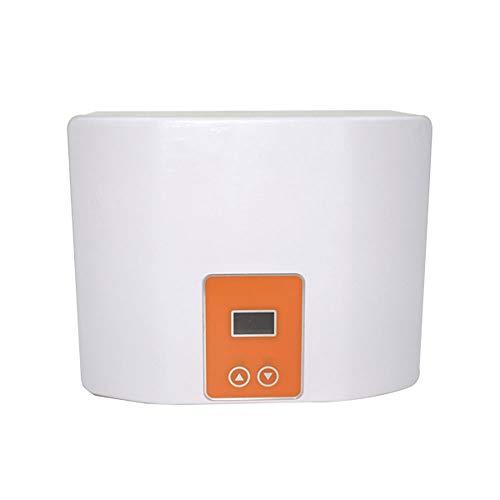 SUQIAOQIAO Mini Cocina/bano montado en la Pared del Calentador de Agua instantaneo sin Tanque Calentador electrico de Agua Caliente termostato rapida Calorifier Calefaccion,Naranja