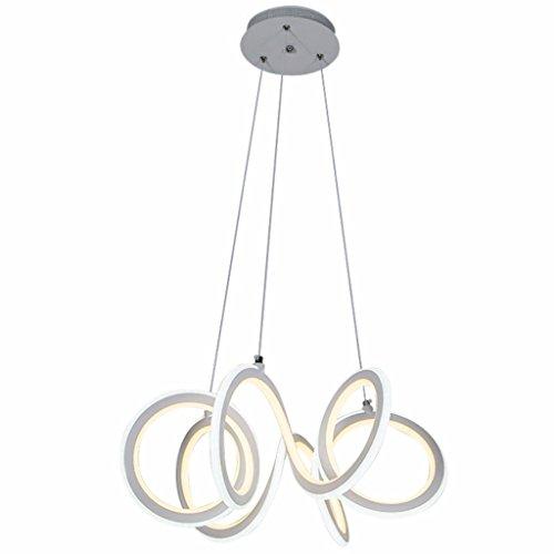 G-HY Lampade a sospensione Lampadari LED Personalità a forma di ristorante speciale Lampadario moderno Lampadario Creativo Moda semplice Lampadario Bar Cafe Lampadario Pmma Illuminazione per interni